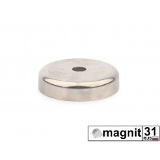 Магнит с отверстием А48 сила 68 кг.