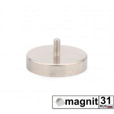 Магнит с винтом С42 сила 68 кг.