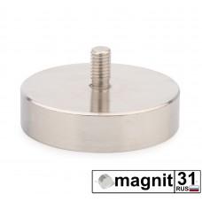 Магнит с винтом С75 сила 164 кг.