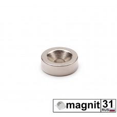 Магнит с зенковкой St-15 сила 2,3 кг.