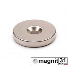 Магнит с зенковкой St-30 сила 14 кг.
