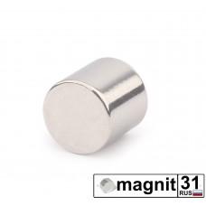 Магнит диск D10x10 мм. сила 3,5 кг.