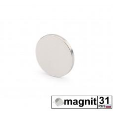 Магнит диск D10x1 мм. сила 0,5 кг.