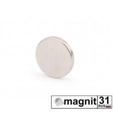 Магнит диск D10x1,5 мм. сила 0,9 кг.