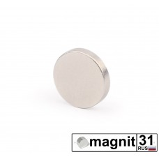 Магнит диск D10x2 мм. сила 1 кг.