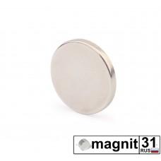 Магнит диск D12x1 мм. сила 0,6 кг.