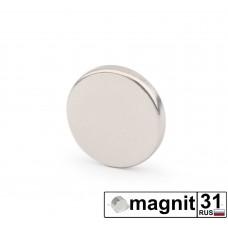 Магнит диск D12x2мм. сила 3 кг.