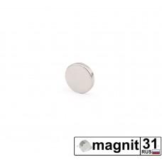 Магнит диск D5x1 мм. сила 0,18 кг.