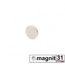 Магнит диск D6x1,5 мм. сила 0,5 кг.