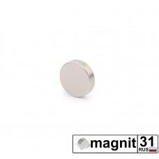 Магнит диск D6x3 мм. сила 0,85 кг.