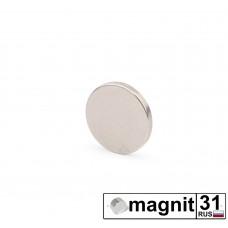 Магнит диск D8x1 мм. сила 0,4 кг.