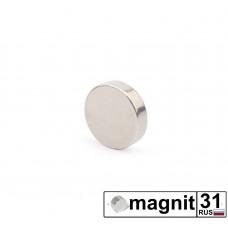 Магнит диск D8x2 мм. сила 0,7 кг.