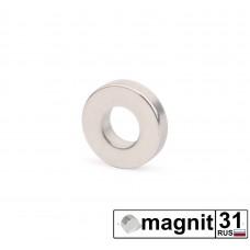 Магнит кольцо К15xd6х6 мм. сила 4,5 кг.