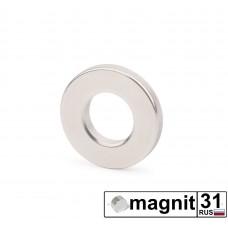 Магнит кольцо К20xd10х3 мм. сила 3,2 кг.
