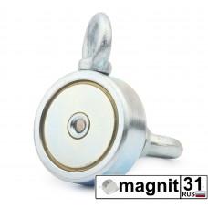 Поисковые магниты двухсторонний F80*2 сила 80 кг.