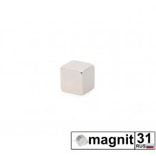 Магнит квадрат 5x5x5 мм. сила 1 кг.