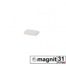 Магнит прямоугольник 10x3x2 мм. сила 0,5 кг.