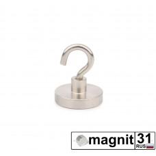 Магнит с крючком Е25 сила 22 кг.
