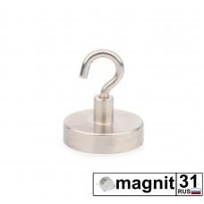 Магнит с крючком Е32 сила 34 кг.