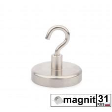 Магнит с крючком Е36 сила 41 кг.