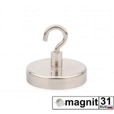 Магнит с крючком Е42 сила 68 кг.