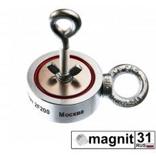 Поисковые магниты двухсторонний F200*2 сила 200 кг.