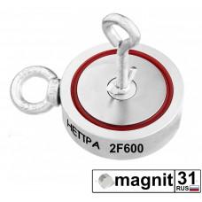 Поисковые магниты двухсторонний F600*2 сила 600 кг.